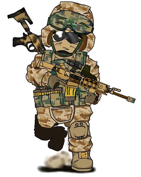 海兵隊隊員凸