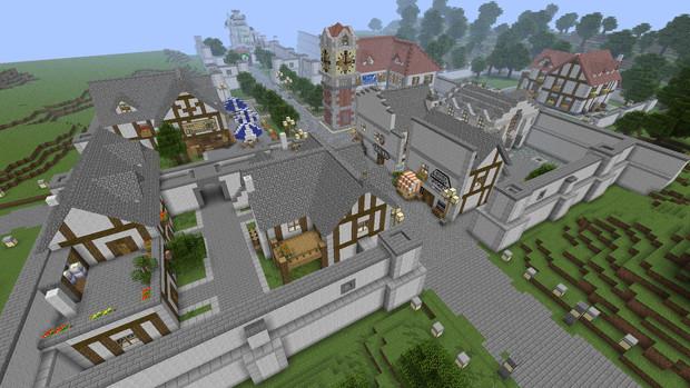 【空の軌跡】ロレント市つくってみた【Minecraft】