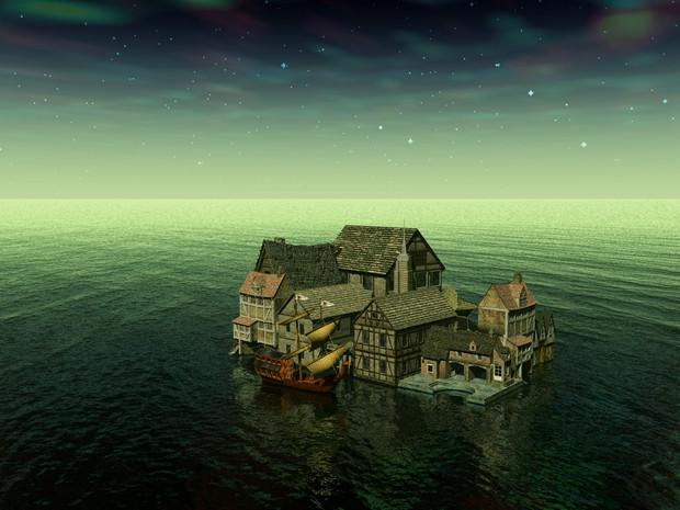 なんちゃって海上都市 / japoon さんのイラスト - ニコニコ静画 (イラスト)