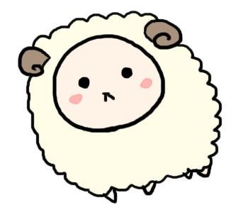 年賀状 羊 年賀状 フリー : 2015年の年賀状に使える羊の ...