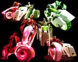 【T&B】緑とピンクの乗り物配布【MMDモデル配布】