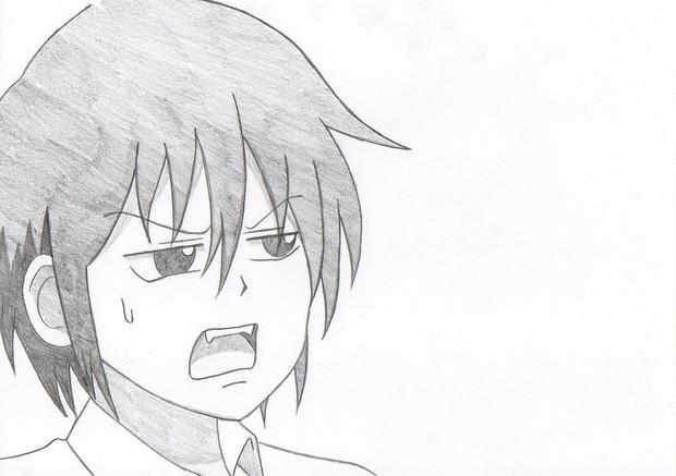 男子高校生の日常 タダクニ 模写してみた