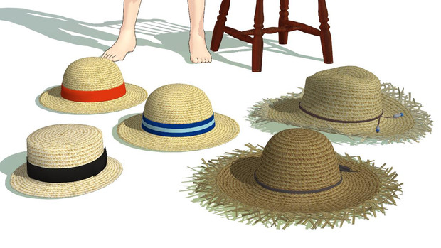 【MMD】麦わら帽子アクセサリ