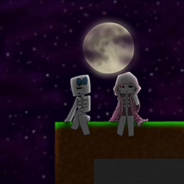 月夜の談話会。
