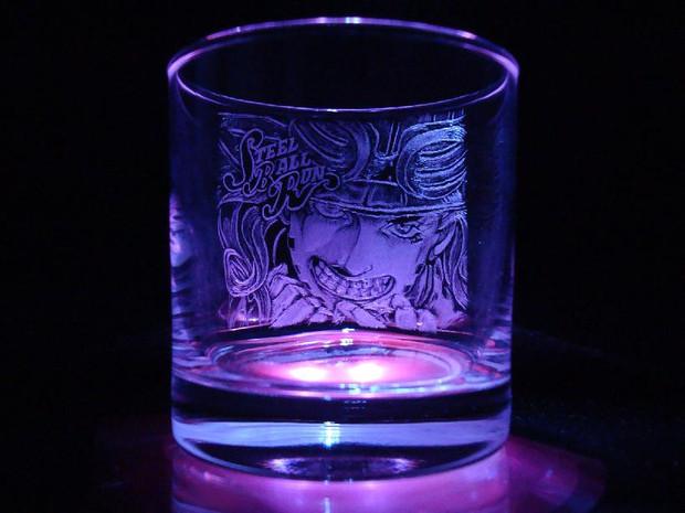 【ジョジョ】ジャイロ手彫りグラス【ニョホ】