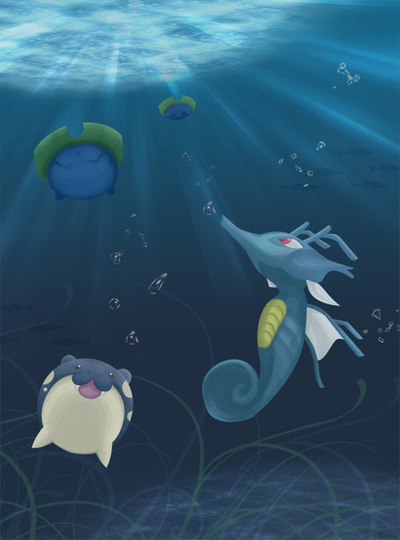 【暑さ対策】海底のポケモンたち【できてますか?】