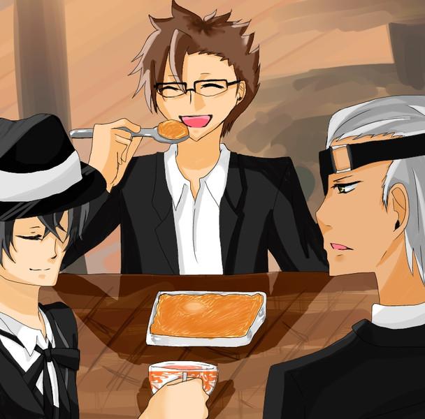 デビト「どんだけ食べるんだぁ・・・?」 ルカ「まぁいいじゃないですか。」