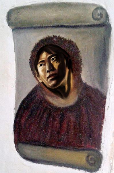 フレスコ画を修復してみました