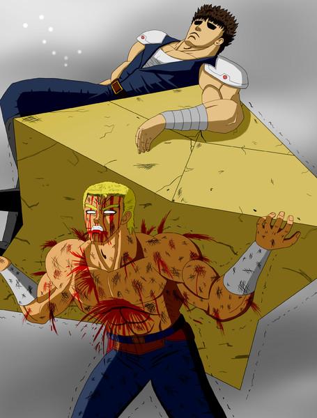 南斗の血が漆喰となってこそ十字陵はより堅固なものとなるのだ!!