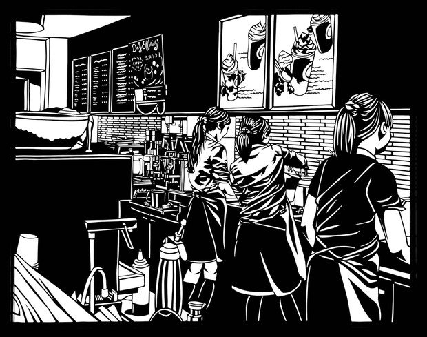 【切り絵】~coffee break~