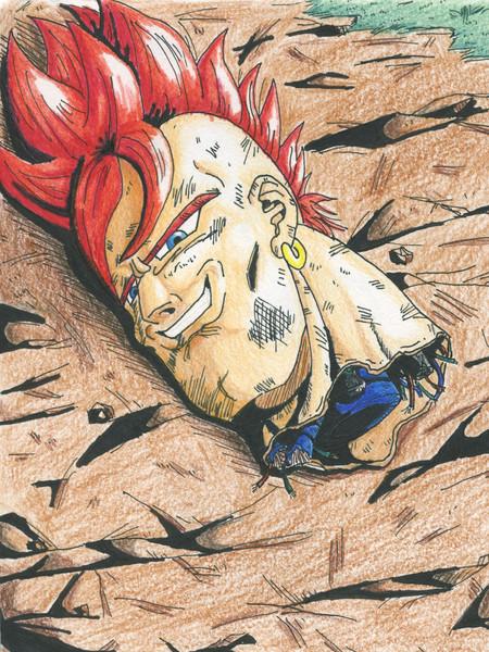 高校生くらいの時に描いた生首