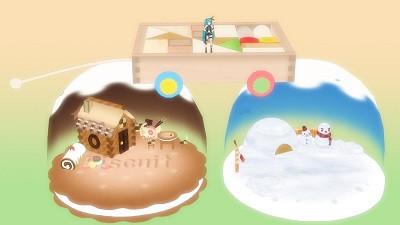 お菓子の家・かまくら・積み木
