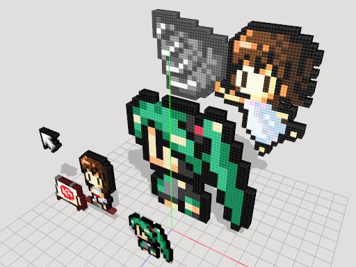 【MMD】ドット絵エフェクトモデル