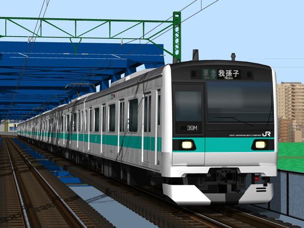 小田急に乗り入れたE233系2000番台(まだ実現せず)