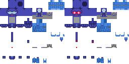 マインクラフト「LittleMaid用ブルー1号機コスプレセット」テクスチャ