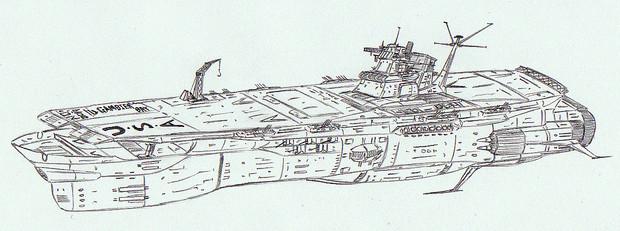 宇宙航空母艦ガンビア・ベイ「自作艦」