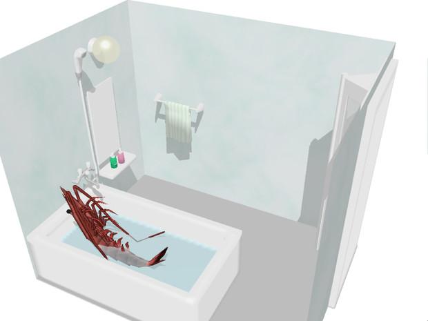 【MMDステージ?】バスルーム