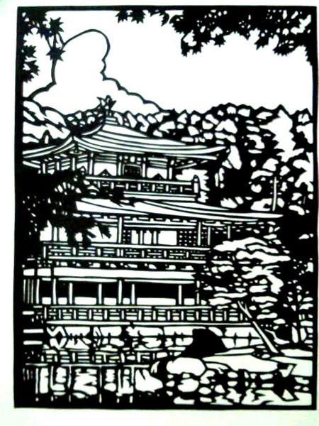 【切り絵】金閣寺