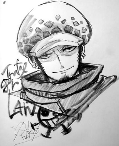 筆ペンでトラファルガーロー 折原滉平olionp さんのイラスト