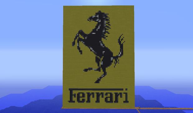 【Minecraft】Ferrari エンブレム つくってみた