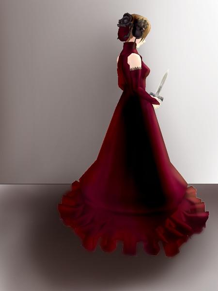 【モデル配布】フリアエ 赤いドレス