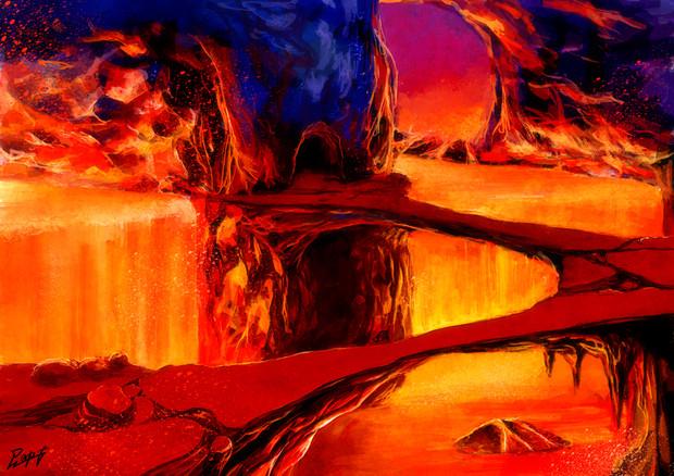 溶岩洞窟 ニコニコ静画 イラスト