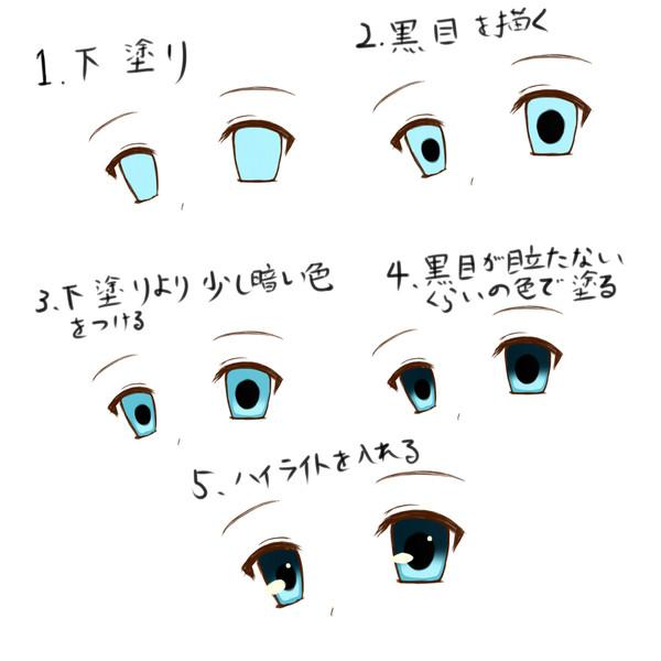 誰でもできる簡単な目の塗り方 Toraclannad さんのイラスト