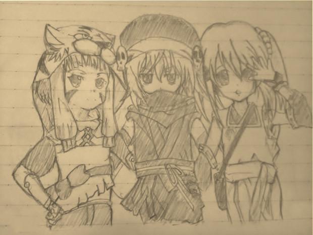 ロリ3人組描いてみた