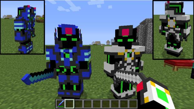【Minecraft】ロボ系?アーマーテクスチャ