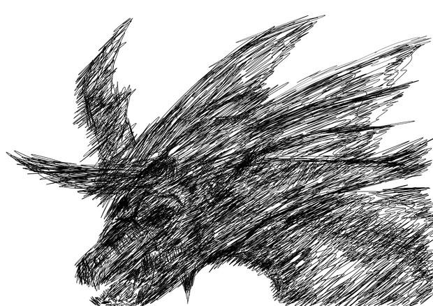 一筆描きでドラゴンっぽいの