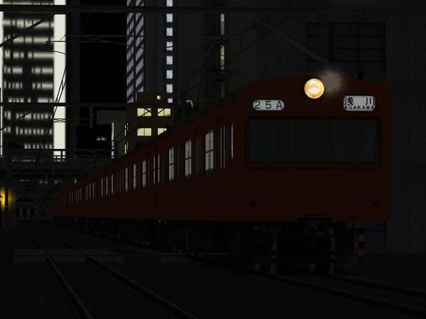 浅川行き最終電車