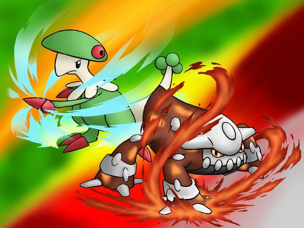 【支援絵】溶岩纏う鋼獣・胞子纏う拳王【toノパン】