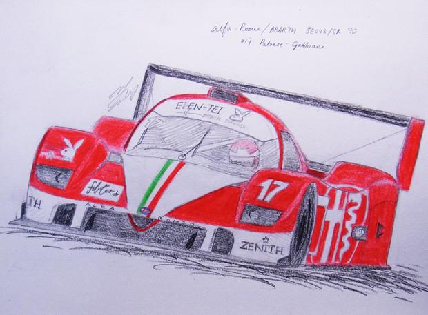 東方レーシング2012 アバルト/アルファロメオSE048 '90 「うさぎさん ...