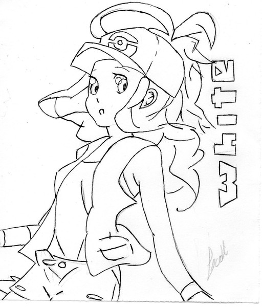 Pocket Monsters Special B&W - White