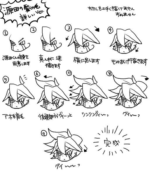 源田幸次郎の描き方