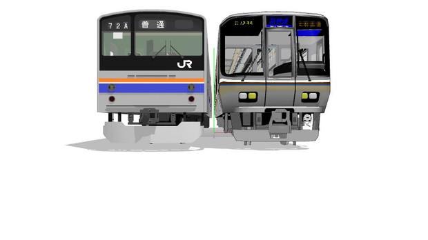 朝のJR京都線