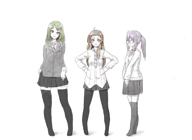 3人立ち絵 めんどす さんのイラスト ニコニコ静画 イラスト