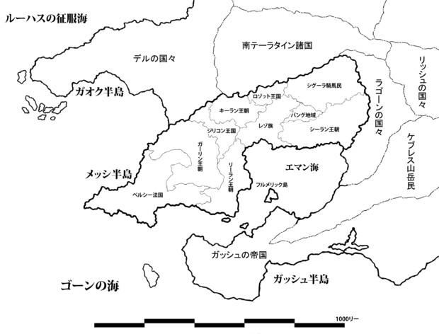 ガーイン・ラバル周辺地図(ワースブレイド)