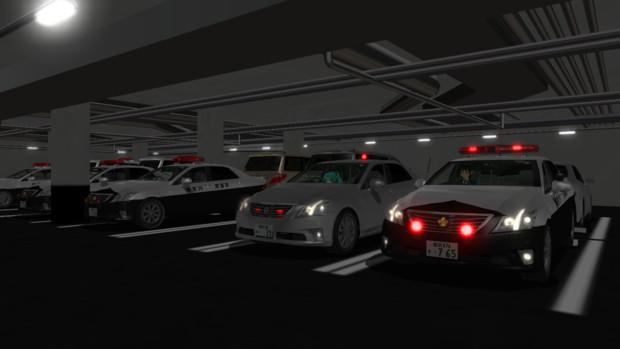 地下駐車場の日常2(警察署ver)