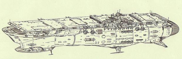 イラストリアス型主力宇宙航空母艦「自作艦」