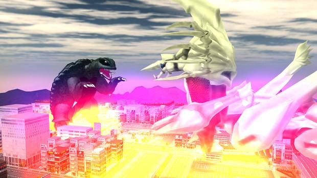 空色町にレギオン襲来!ガメラ迎撃!