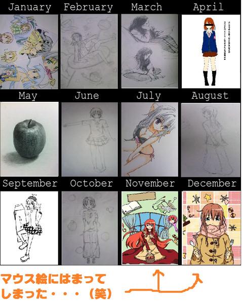 ~ 一年間の歩み ~今年は全然描けなかったなぁー