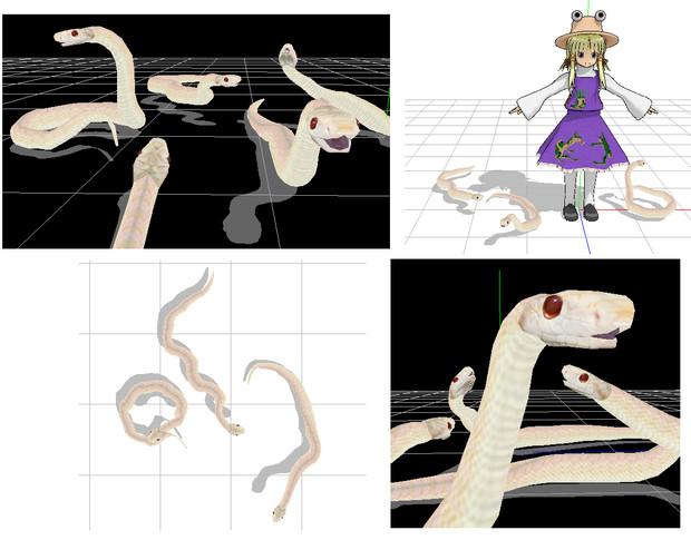 [MMD]白蛇モデルver.1