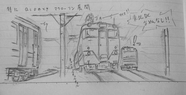 キハ40系をノートに描いてみた