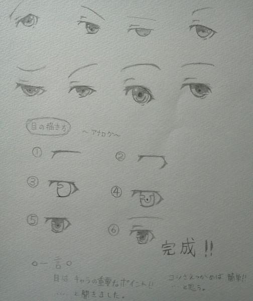 目の描き方アナログ マート さんのイラスト ニコニコ静画 イラスト