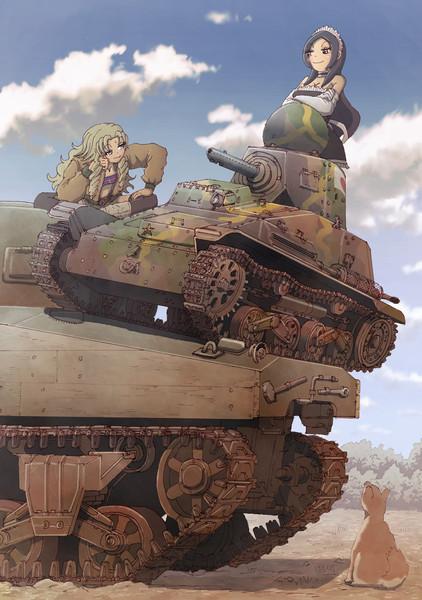 九四式軽装甲車、M4重戦車ヲ蹂躙ス。