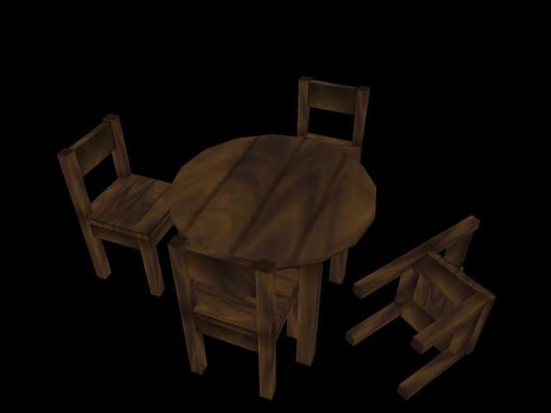 木テーブル2