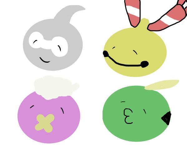 4匹のかわいいポケモン えだまめ さんのイラスト ニコニコ静画
