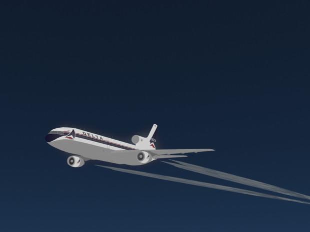 MMDで高高度飛行中のL1011トライスター