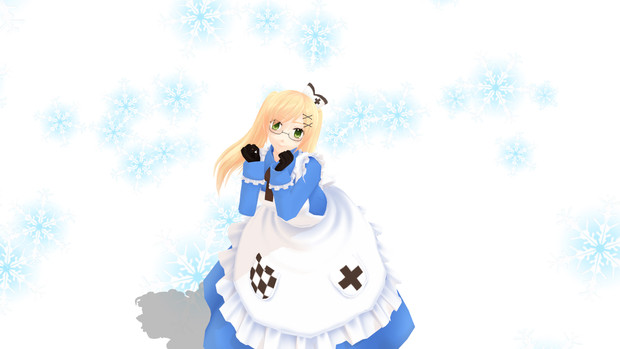 【MME】雪の結晶(水色)パーティクル配布